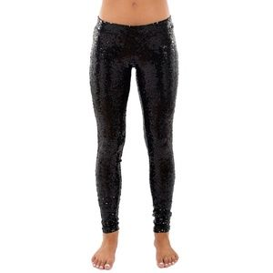 Tipsy Elves Holiday Shiny Sequined Leggings